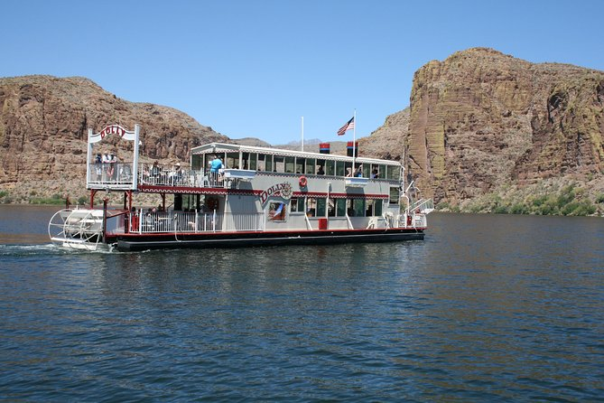Cruise Canyon Lake for 90-minutes aboard Dolly Steamboat. This narrated cruise explores a slot canyon. Keep your eyes open for long horn sheep and eagles. Venture east of the Valley, deep into the Sonora Desert, along the Apache Trail. The Southwest and northern Mexico are the only places on earth where this lush desert exists. Visit Tortilla Flat, a former stage coach stop, which boasts a population of 6 people! There will be some browsing time here. Take a short walk into the desert where your guide will point out the desert plants.