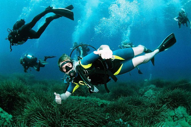 Scuba Diving in Ibiza is an amazing experience that can be done without any experience in diving with our beginners program, from 10 years up to 99 yrs. Enjoy views of Ibiza's beautiful ocean with this 3-hour course.