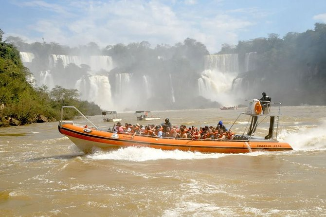 Embark on this 8-hour guided adventure to the Argentinean Falls of Iguazu National Park. Discover the Tour to the Devil's Throat Circuit and Upper Circuit, with a small-group of no more than 15 travelers. Enjoy a boat ride to cruise along the falls and even get wet at the end.
