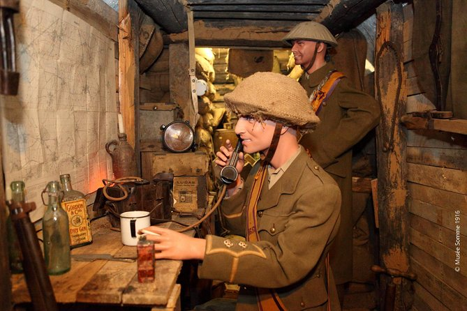 Welcome to the Museum Somme 1916. <br><br>Located at the heart of the Battles of the Somme (1914-1918), in a tunnel which was converted into an air-raid shelter in 1938, the Somme Trench Museum recreates the life of soldiers in the trenches of the July 1916 offensive, where the allies attacked the positions held by the Germans.