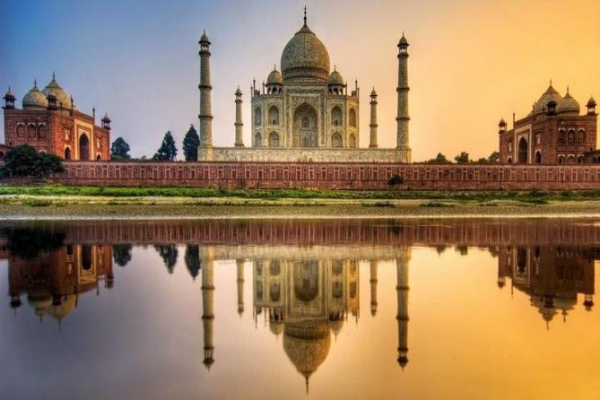 Explore India's Golden Triangle on this four-day private tour traveling by air-conditioned vehicle with a local guide. In Delhi, visit Qutb Minar, Lotus Temple, India Gate, and Parliament House. Watch the sun rise over the Taj Mahal, visit Agra's Red Fort and Baby Taj. In Jaipur, visit Panna Meena Ka Kund (Step well), Amber Fort, Jal Mahal, Palace of Winds, Maharaja's City Palace, and Jantar Mantar Observatory. Three nights of five-star accommodations, breakfasts, transportation, and guided tours are included. You'll sample local dishes for lunch and dinner on your own, and cover your own monument entrance fees.