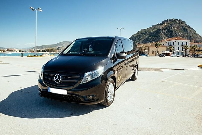 Avoid the delays and confusion of public transportation and enjoy a pleasant private transfer by luxurious MercedesMinivan vehicle between Nafplio and Athens International Airport!