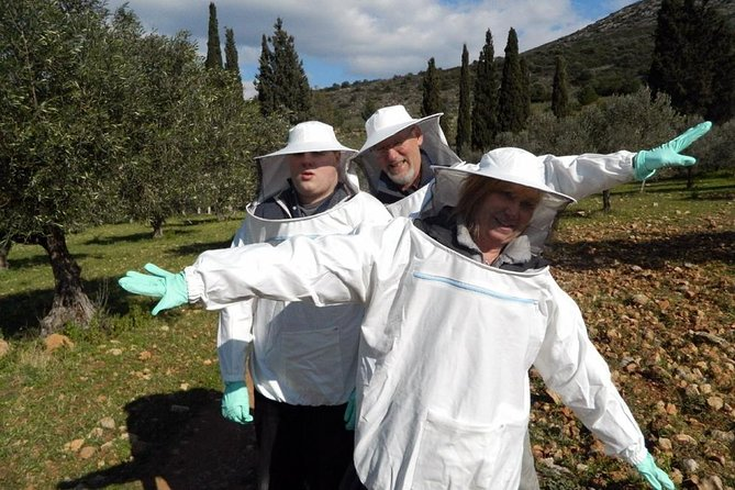 """""""If the bee disappeared off the surface of the globe then man would only have four years of life left. No more bees, no more pollination, no more plants, no more animals, no more man."""" Albert Einstein<br><br>In this half-day excursion of honey we learn all the secrets of beekeeping by a proffesional beekeeper. We visit a traditional honey production unit and we are astonished by the well-structured bees' society. We admire the magical world of the bees in their natural environment and get to taste the unique Greek varieties of honey."""