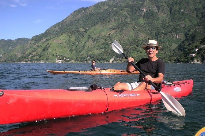 Get ready for the adventure with this combined tour that includes kayaking and hiking to the rugged north shore of Lake Atitlan. <br><br>Explore ancient Mayan paths on an adventure tour from Santa Cruz La Laguna. Discover Mayan villages in the jungles of Guatemala, and see the villagers tending their coffee crops, and more. <br><br>You will have the option of cliff jump, only if you dare!<br><br>This section of Lake Atitlan has barely been touched by the outside world, enjoy breathtaking views of Lake Atitlan and the surrounding volcanoes.
