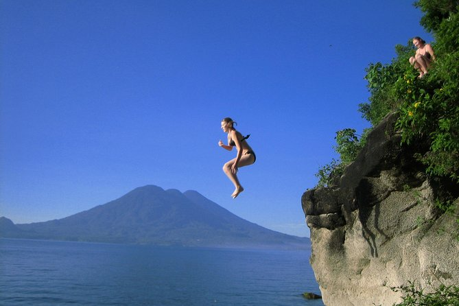 Travel to Lake Atitlan and choose your options. <br><br>High impact activities for those who are physically active or low impact activities for those who want to enjoy Lake Atitlan on their own terms!<br><br>Families may mix and match. Kids can cliff jump and rock climb while the parent watch. <br><br>Travel from one end of the lake to the other, or choose one or two areas that are most interesting to you. Highly customized tour.