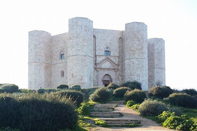 Visit castles built by King Frederick II (known as 'The Norman') during the XII century and explore the famous Castel del Monte, UNESCO site and roman PUGLIESE architectural style cathedrals and tower