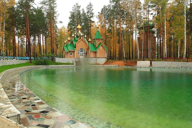 This excursion will acquaint you with the history of Romanov family in Yekaterinburg and details their tragic death.<br><br>You will visit the Monastery dedicated to the family of the last Tsar. The Monastery is located on the spot where the Bolsheviks tried to hide the Romanov's corpses in a secret grave. Today, this area is a well-known Russian Orthodox pilgrimage site. After visiting this site, you will head to the monument of the border of Europe & Asia, which is located at the point where these 2 great continents meet. Having crossed the borderline you will get a Special Certificate and glass of sparkling wine. On the way back to the city you´ll visit Shirokorechensky Memorial with graves of Russian and German WWII soldiers. (The drive is approx. 20 km one way).<br><br>• Guaranteed skip-the-line entrance