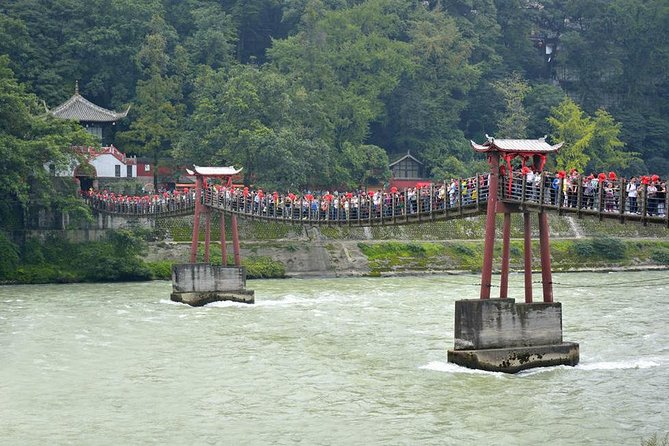 Visit two world cultural heritage sites - Dujiangyan and Mount Qingcheng in one day. <br><br>Dujiangyan and Mount Qingcheng were the inspiration forthe Dream Works team to create the Panda Village in Kungfu Panda 3. <br><br>Your experiencedguide will take you toexplore ancient Taoist temples with winding paths, verdant trees and mossygreen roofs in Mount Qingcheng as well as the jade coloredstreams andancient architecture of Dujiangyan. <br><br>A tasty local lunch, entrance fees, cable car/Eco Golf Car fare, private guide and transfer service are all inclusive.<br><br>