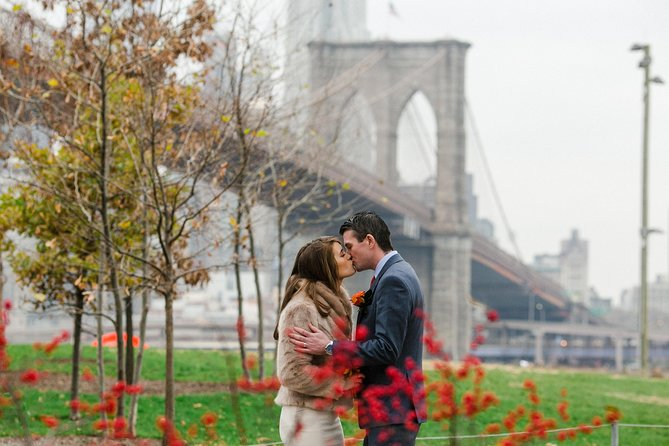 Capture special moments forever in New York City's iconic DUMBO and Brooklyn Bridge Park with a 1-hour photoshoot. Experience a styled portrait session with a professional photographer in the world's most-visited park — perfect for couples, friends, and families alike. Have award-winning photographers capture the adventure. Afterward, access a personal web gallery to choose and download favorite images.
