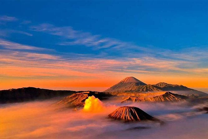 The magnificence of Mount Bromo is that few underestimate; the sheer size of this volcano with its almost alien surrounding landscape only can be properly experienced when climbing up to the top and just stare towards the east as the sun slowly rises. Visitors to Mount Bromo will see something truly spectacular, made by Mother Nature. Surrounding Mount Bromo offer a plethora of picture-perfect sights and moments, so better bring your camera, charge your battery and have sufficient space available on your memory card.