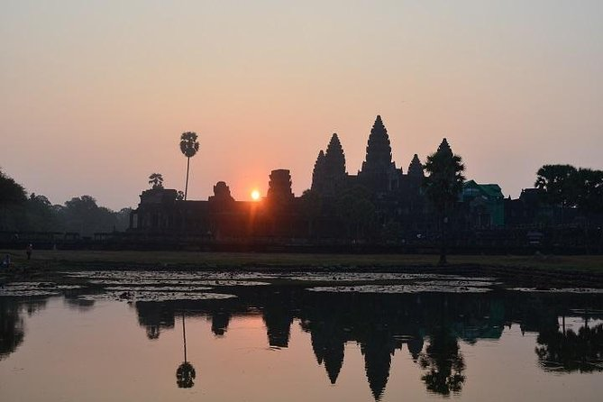 To add a special touch to master the magnificence of Angkor in one full day, your means of transportation will be a local Tuk Tuk that will be waiting for you just before sunrise with Angkor Wat at the background makes it all worthwhile waking up early.