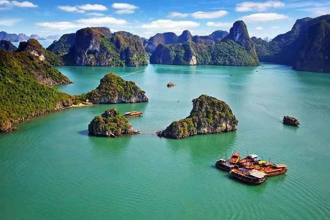 Full Day Boat Trip from Halong City, ,