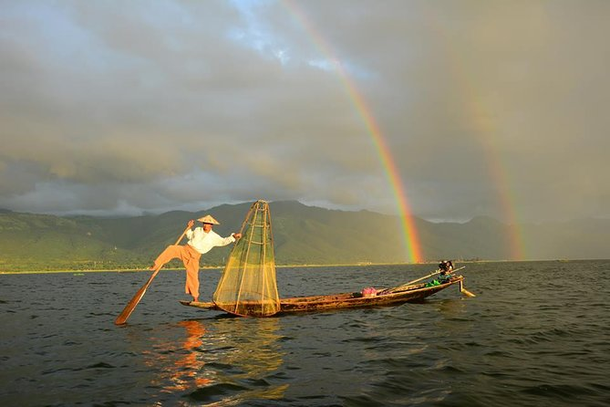 Inle Lake is an idyllic destination where clear waters, mountains back drops, floating gardens and stilted villages coexist.<br><br>Highlights:<br> • Travel by boat and see the sights from the water<br> • Private guide for a more personalized experience<br> • Floating Market (can be able to see on the 5 market days only )<br> • Visiting Phaungdaw Oo Pagoda, Ngaphechaung Monastery (well known for its jumping cats)<br> • Experiencingweaving factory, silver smith workshop and as well a floating plantation.