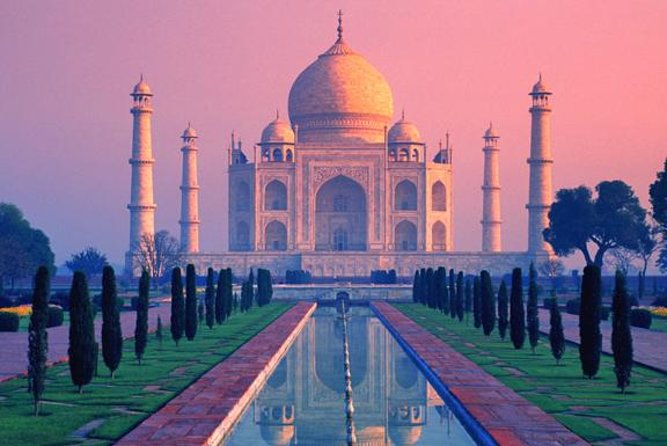 See three UNESCO World Heritage Sites in one day on a full-day private tour in Agra. Visit the Taj Mahal, Agra Fort, and the abandoned city of Fatehpur Sikri, then go shopping for handicrafts at Agra's markets. View the Taj Mahal up close at sunrise. Includes lunch, entrance fees, private guide and vehicle, and hotel pickup and drop-off.