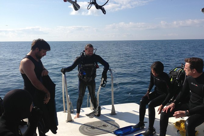 Wreck and Bridge Span Dive Charters for Openwater Certified Divers. The tops of the structures lay in 50 feet of water, while the max depth is around 75 feet. All divers must be certified to dive. All charters go to two different sites and typically takes 4 hours.