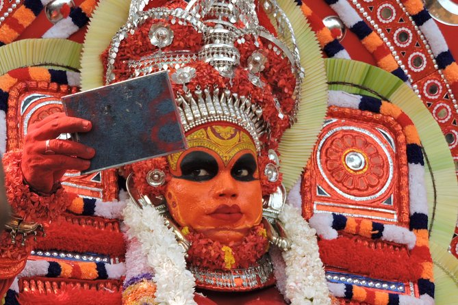 Theyyam – the ritualistic performance, which can be described as the most visible, spectacular art form of Malabar (Northern part of Kerala), associated with myths and legends. Theyyam is also a form of worship consisting of rituals, colorful costumes and divine dance through which the gods are appeased and honored. Join us for this overnight tour to experience something you have never experienced before!
