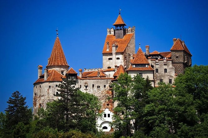 Visit Dracula's Castle and Peles Castle on a private day trip from Bucharest.<br><br>Legend has it that Count Dracula lived in a castle in Transylvania. Surrounded by an aura of mystery and perched high atop a rock, Bran Castle owes its fame to imposing towers the myth created around Bram Stocker's 'Dracula'. Discover the enchanting mountain region of the Carpathian Mountains and the cities of Sinaia, Bran and Brasov.