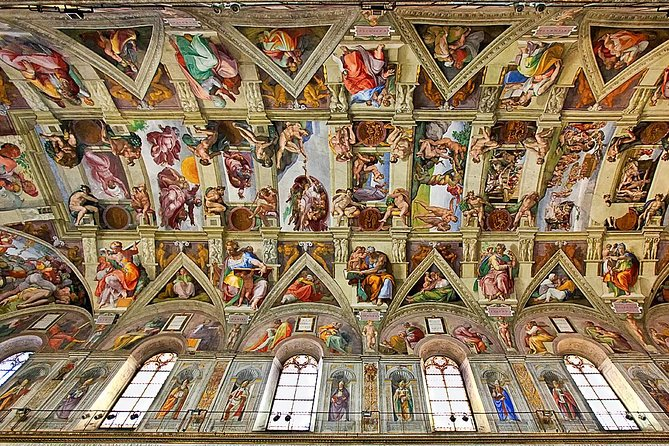 For those who want to see the Sistine Chapel and the highlights of the Vatican's extraordinary art collection, this tour includes the best of the Vatican Museums as well as privileged access to St. Peter's Basilica.<br><br>No unnecessary waiting around! Time is important, especially when you are on vacation, so we always use fast track tickets to ensure you get inside as soon as possible.<br><br>The Vatican Museum is the second most visited in Europe, after the Louvre in Paris. Boasting over 4 miles of Art, and a whopping 20,000 works on display, the Vatican Museums make up an impressive assemblage.<br><br>The Sistine Chapel is an impressive sanctuary boasts works by master painters like Perugino, Pinturicchio, Ghirlandaio, Rosselli, Botticelli, Signorelli, della Gatta and, of course, Michelangelo.<br><br>At the end of your tour, your guide will accompany you to the front of St. Peter's Basilica using a special exit reserved for certified guides and their groups.