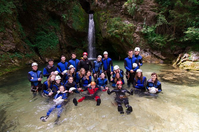 Canyoning and rafting in Bled. Two trips – one exciting day! Join us on a day full of exploration and excitement as we take you on a canyoning rafting adventure! It is the perfect way to explore the nature surrounding the beautiful town of Bled. If you are looking for an active way to spend your family holiday in Slovenia this is the day for you. The canyoning rafting tour combines two of the most popular water activities in the area. It is also a great idea for a trip with your fiends or colleagues from work as it challenges you as a group.