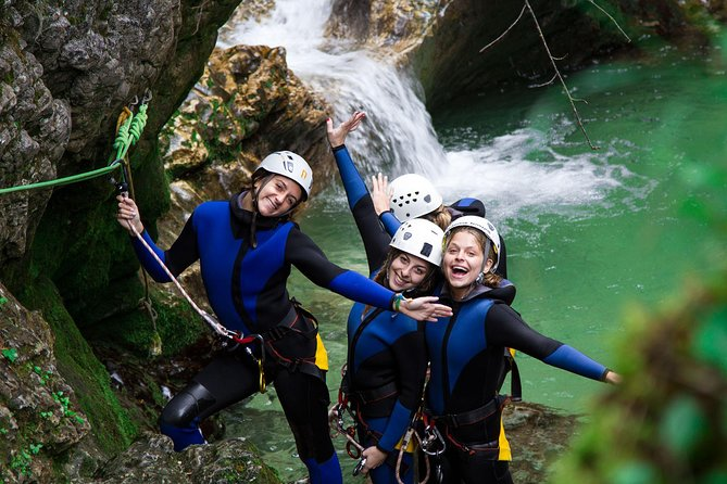 Experience Slovenia's famous pristine nature and gorgeous canyons during this 3.5-hour canyoning tour of Lake Bled. Follow an experienced local guide into the pristine Bohinj valley and feel your adrenaline pumping as you jump down waterfalls, swim in mountain springs and hike through beautiful forests. Each trip is guided by a certified canyoning guide who will make sure you are well prepared for the fun ahead. Don't miss this unique opportunity to get out of the city and see the best of the Slovenian countryside.