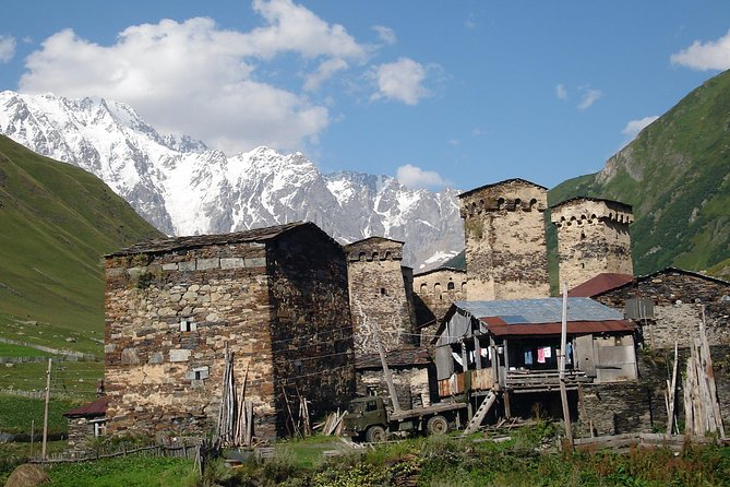 Take a 4 day journey to Svaneti region from Kutaisi. Enjoy 4x4 drive on picturesque off-roads to one of the most remote places in Europe – Ushguli village, have guided excursions at museums and spend nights in 3-star hotels with breakfasts and dinners included.