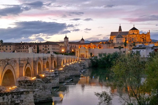 With this private tour of Cordoba you will discover one of the most fascinating cities of Andalusia, where history and tradition still survive. Where three cultures converge. This historic city was declared, in 1984, a world heritage site by UNESCO. During the tour our guide will show you the Roman Bridge, the Torre de la Calahorra, the ancient walls of the city, and the streets of Jewish Quarter. These many monuments are all expressions of the different cultures that lived in this city. Finally, you will have the chance to visit the spectacular Mosque of Cordoba, where you can admire the characteristic forest of columns.