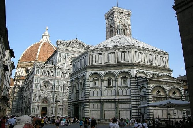 Explore the Renaissance cities of Florence and Pisa on a day trip from Rome in a Small Group max 12 people (only 6 passenger per minivan). After leaving the capital, you'll travel north through Tuscany to Pisa where the white marble monuments of Piazza dei Miracoli wait. Admire sights of the UNESCO-listed Leaning Tower of Pisa, and then head to Florence in time for lunch. Explore medieval streets, old craft workshops, and Michelangelo's 'David' inside the acclaimed Accademia Gallery. Numbers are limited to just seven people per minibus for a small-group experience.