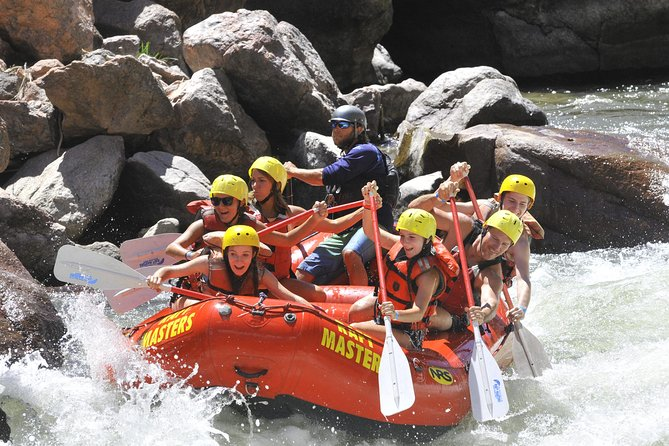 This adventure-packed trip travels through the 1,100-foot cliffs of the Royal Gorge. The Royal Gorge rafting tour is famous for its steep drops, huge waves, and continuous Class III to Class V whitewater. You will have the experience of a lifetime on this 4-hour adventure. The spectacular scenery and rapids of the Royal Gorge will thrill even the most expert whitewater veteran. Previous experience is not required to raft the Royal Gorge. Suggested age varies with water levels.