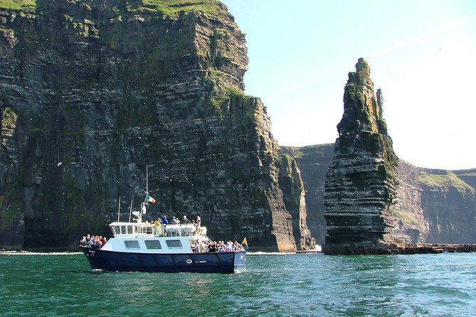 Experience two of Ireland's top natural attractions—the Aran Islands (Inisheer) and the Cliffs of Moher—in one day on this tour from Galway. We will take you by boat from Doolin to Inis Oirr(Inisheer) which you can spend 2hours approx at your leisure exploring the island. On return sailing from the island we will sail underneath the breathtaking Cliffs of Moher - subject to weather conditions. We will then enjoy the Cliffs of Moher from the top by visiting the Cliffs of Moher Visitor Experience Centre<br><br>On this tour you will take in the amazing scenery of two of the Discovery Points on the Wild Atlantic Way, plus enjoy a boat ride beneath the Cliffs of Moher.