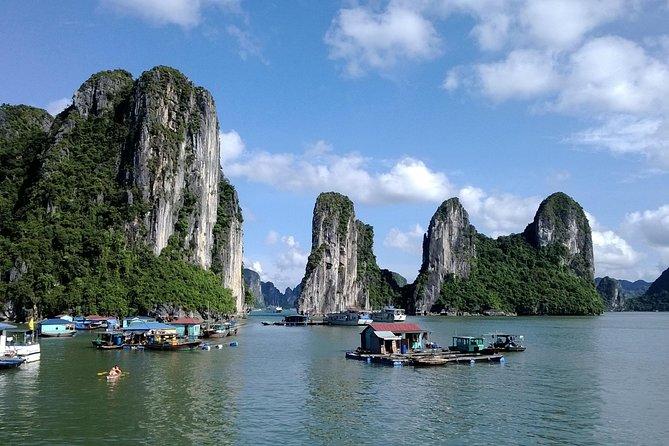 Enjoy this full-day trip to Halong Bay from Hanoi, including a scenic round-trip drive through northern Vietnam's rural landscapes. Enjoy a seafood lunch as you take in the magnificent scenery, stopping to explore karsts and caves such as Thien Cung (Heavenly Cave) with an experienced guide.