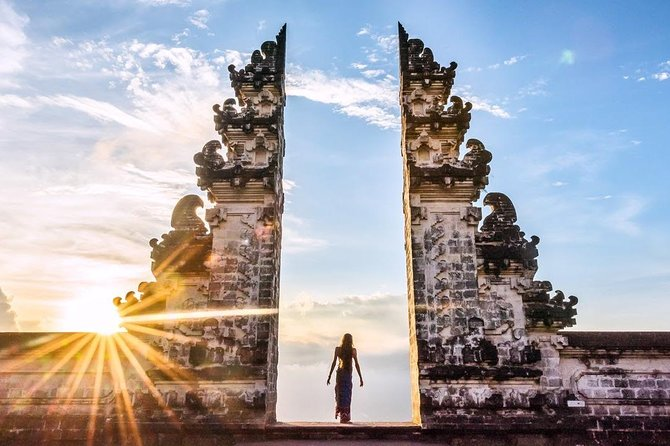 """GATE OF HEAVENat Pura Lempuyang,1.058 meters above sea level, northeast of Mount Agung""""six sanctuaries of the world"""" and now become the mostfavorite of all the temple gates photographed in Bali. <br><br>Tirta Gangga WATER PALACEisworth a visit. The garden is full with flowers and Balinese statues of which some represent Balinese demons. Walk on tiles to cross the water and admire the tiered fountains up close with hundreds of beautiful Koi fish. <br><br>a visit to TAMAN UJUNGWater Palace which is a beautiful park with big fish pond surrounds the old Karangasem Empire heritage building which is used by the Karangasem King for day relaxation or meeting place in their era. <br><br> BUKIT ASAH & VIRGIN BEACH for an Awesome landscape and beautiful relaxing non crowded white sand beach. A place to relax and enjoy the nature."""