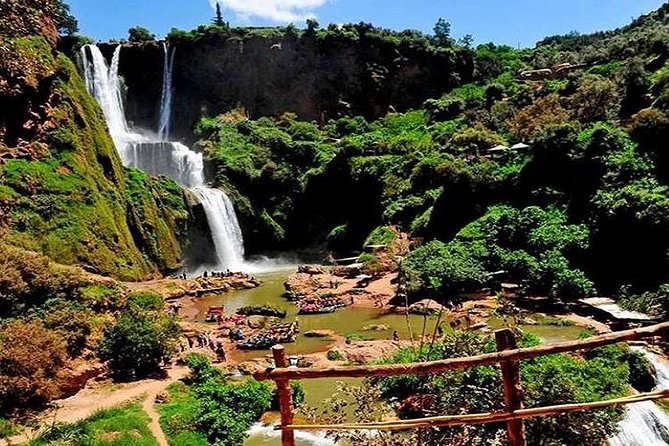 • Discover the most fascinating waterfalls in morocco. <br> • Enjoy a break taking landscapes while driving to Ouzoud waterfalls <br> • Take a walk on foot to discover the charm of this wonderful place. <br> • Enjoy the delicious traditional meal on the terrace of a local restaurants in front of the waterfalls. <br> • Enjoy a hike with a local guide and meet the wild Barbary macaque (monkeys). <br> • Discover the berber life style while visiting a berber family. <br> • Take a memorable photos of the landscapes in ouzoud waterfalls