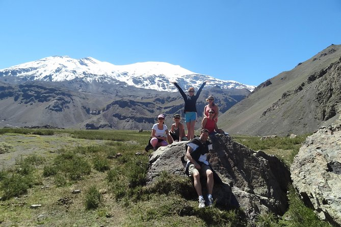 Explore the heart of the Andes and discover, with a 8 kms hike (5 miles), a volcano of 5,800 meters of altitude (19,000 ft), just a 100 kms (62 miles) away from Santiago. A trip to the past, discovering the creation of the South American continent. Admiring stunning views of mountain rivers, glaciers and the amazing Andes mountains.