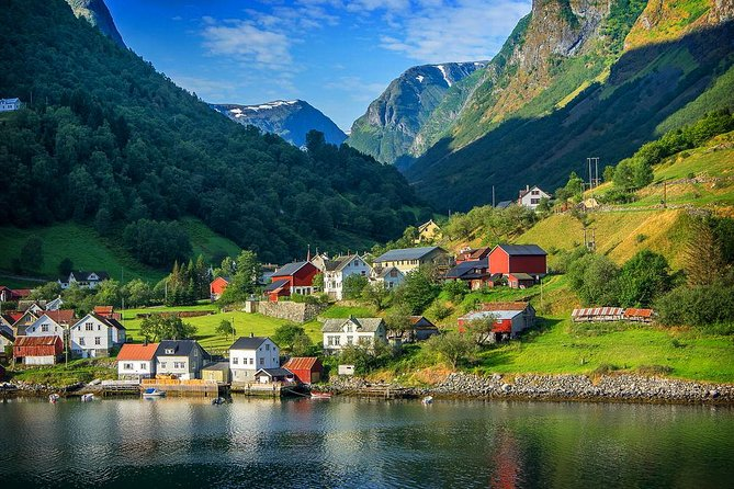 With UNESCO-listed fjords and snow-capped mountain ranges that stretch around the country, Norway offers a land of alluring landscapes to tempt any traveler. The best way to see it? By train, bus and boat — in one hassle-free day tour. Hop aboard to discover the countryside that frames the Bergen and Flåm railways, and admire Aurlandsfjord, Nærøyfjord, the village of Flåm and more.<br><br>Important information:<br> • Your tour tickets will be delivered to your hotel, please don't forget to share your hotel details with us.<br> • Your tour itinerary will be issued and sent via VIATOR email, please don't forget to check it.<br> • This is self-guided tour