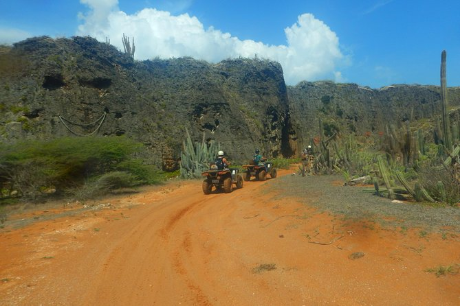 Enjoy this half day or full day tour and get ready to discover the most beautiful parts of Curacao on an ATV also known as a quad bike. These top of the line ATV's are suitable for experienced as well as inexperienced drivers. This Western Curacao tour provides an off-road adventure, in combination with spectacular views, unique sights and the opportunity to take a dip in the Caribbean sea. It is an amazing tour as it quite often takes you off the beaten path with lots of opportunities to take pictures.Tour is limited to a maximum of 10 travelers.