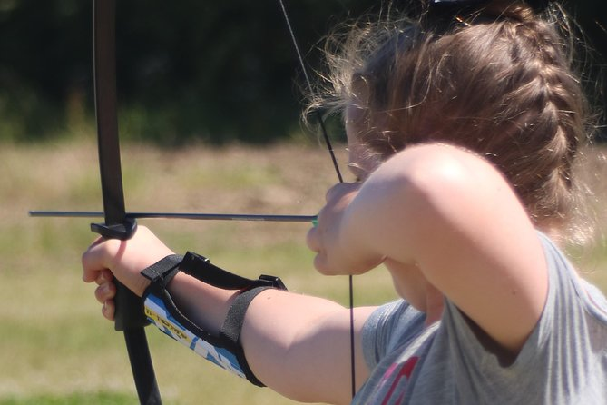 Release your inner Robin Hood with a one-hour archery experience! Our expert instructors will show how to correctly load your arrows on to a recurve bow before teaching you how to aim and fire to hit the gold time and time again! <br><br>Our activities start on the hour from 10am until 4pm. We encourage our customers to arrive 20 mins early to have a drink and a snack before hand so you are fully rested and energized for your archery experience, and to take in the lovely country side which you are situated in.