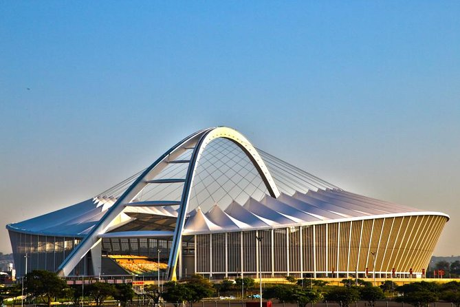 Embark on a scenic and guided full day tour of Durban's Top 10. An experienced and knowledgeable local guide will show you a variety of landmarks which highlight Durban's diverse culture and history.Attractions to see include the Mahatma Gandhi's House, Umhlanga Promenade, Durban's Golden Mile beachfront, Moses Mabhida Stadium, Durban Botanic Gardens, Victoria Street Market, Zulu Medicine & Herb Market, City Hall, KwaMuhle Museum and Ushaka Village Walk.