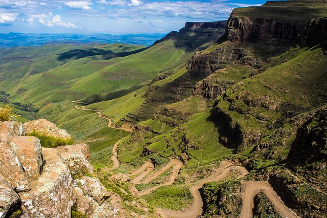 The <br><br>Sani Pass Lesotho 4x4 tour leaves from Durban and stops at the capital of KwaZulu-Natal, <br><br>Pietermaritzburg. Your guide will give you a short tour of the city and visit <br><br>Mahatma Gandhi's statue by Pietermaritzburg City Hall. Afterwards the tour moves towards the Drakensberg Mountains and up to the <br><br>Sani Pass in Lesotho. At the top you will have a meal at the highest pub in Africa and visit a local Lesotho village be fore returning down the pass towards to Durban.