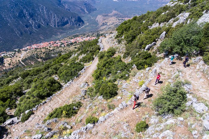 This is a historic and inspiring hike dropping down from the slopes of Mount Parnassus to the village of Delphi. Walk on the ancient footpath that took Pan's worshipers up from the temples of Delphi to the Corycean Grotto to celebrate rites.