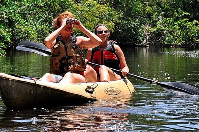 Adrenaline, mangrove river and an exuberant jungle full of wild life awaiting to be adventured through in our kayak tour where the Rio Platano meets the Caribbean beach in a full day of all nature scenery.
