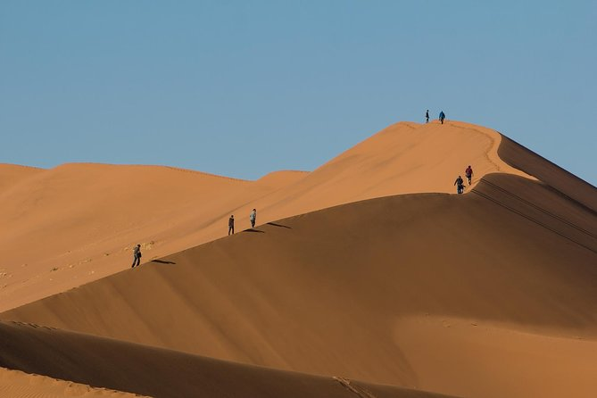 This African budget safari offers an amazing experience of the breath-taking sand dune sea of the Namib and provides an adventure to the Sossusvlei region. This is a small-group tour that caters for those that have limited time and wanting the comfort of a bed and en-suite bathroom. Discover the beauty of the Namibian landscape and enjoy fantastic views and the remarkable scenery of the worlds oldest desert.