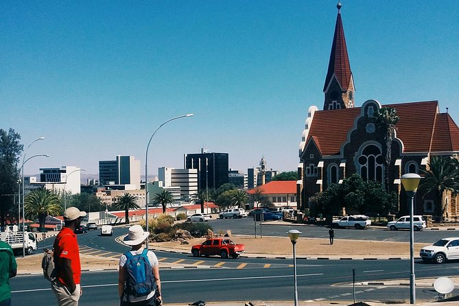 This 3-hour tour will give you a stunning view over Windhoek from the famous Lover's Hill while you get to know the comprehensive history of Windhoek and Namibia from colonial era to modern day. Visit the Christ Church, Ink Palace, Parliament Gardens, and the Old Fort before heading into the township of Katutura to meet the people, taste of local delicacies and learn the history of Windhoek and it's people.