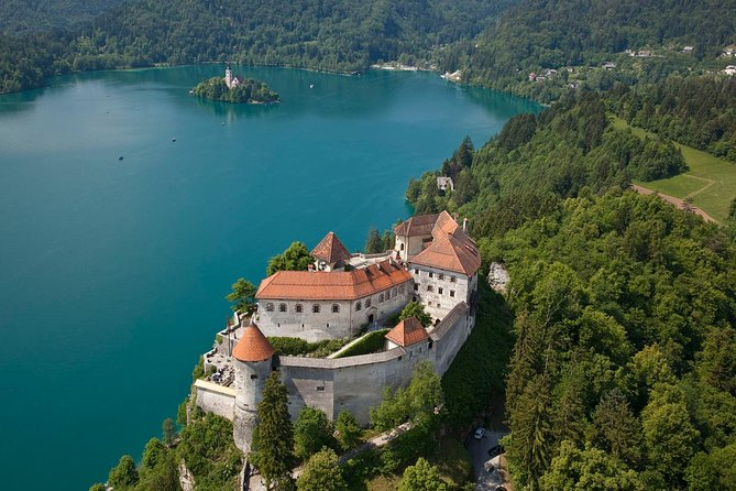Visit the Alpine town of Bled, sail toBled Island in a traditional Pletna wooden boat and visit the Church of the Assumption. Explore the beautiful Šum Waterfall at the end of Vintgar gorge. Once you return to Bled, take some free time or visit the town's majestic Bled Castle. Continue the tripto visit the karst Postojna Cave, where you discover underground karst beauties: spectacular stalactites, stalagmites, limestone curtains and more by riding the train. Finish the journey in Predjama village and enter the majestic Predjama Castle carved into a 123-meter high stone wall.