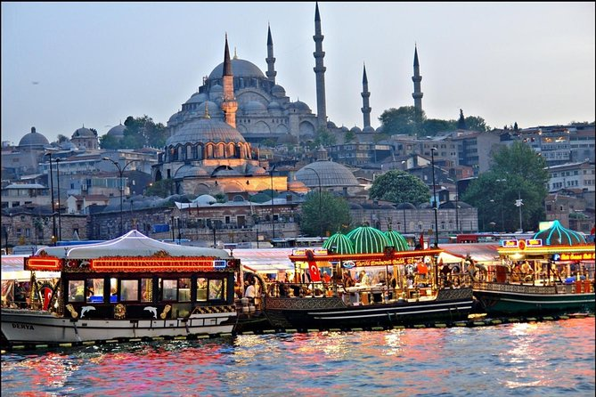 Fly to Istanbul and spend a great day in this fascinating metropolis on the Bosphorus, the only one in the world which is located on two continents. In one day you will see Istanbul's top tourist attractions, discover its old town, enjoy Bosphorus sightseeing cruise and practice your bargaining skills at Egyptian Bazaar.