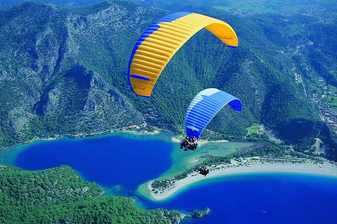 Sign up for this 3-hour paragliding experience in Fethiye and glide high above sandy beaches and turquoise waters. Take in views of majestic mountains on the horizon. You will start with a briefing by your instructor and then experience a tandem para-glide. You have an option to choose the time of day that suits you best and confirm with local service provider. Hotel pickup and drop-off is included.