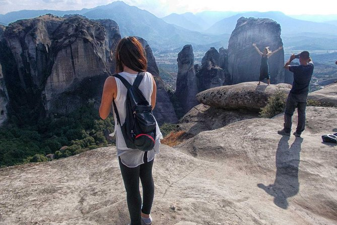 Experience this amazing 12 hour tour to Meteora from Thessaloniki. The tour will begin at 08:18am at the Thessaloniki New Railway Station, where you will travel by train to Meteora. Once there, you see all 6 Monasteries with a panoramic 4.5 hours tour led by your guide on a VIP limo mini-bus. To conclude the tour, you will be dropped-off at the train station to return to Thessaloniki. Food and drinks are not included on this tour.