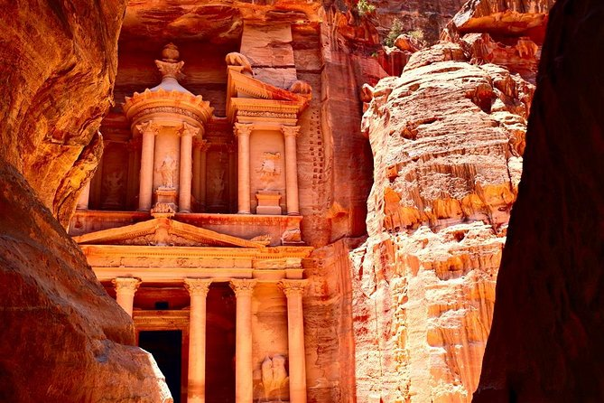 This tour will take you on an adventure that you will never forget, through the mountains to see Petra in all of her glory. <br><br>Petra,one of the seven wonders of the world, was left by the Nadateans that lived in Jordan more than 2000 years ago. <br><br>See the Treasury, which is the completion of the Siq. <br><br>There is a Roman theater with three thousand seats, built in the 1st century B.C. <br><br>There are crypts, baths, mourning halls, temples, and much more. <br><br>You don't want to miss this full-day tour.