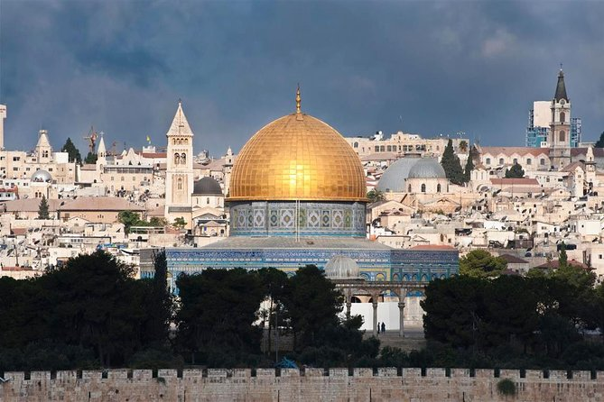 Visit the Dead Sea, Jerusalem, and Bethlehem on a full-day, private tour from Eilat. Enjoy the personalized experience and flexibility of a private tour that includes hotel pickup and drop-off in Eilat, all entrance fees, a walking tour of Jerusalem, and transport in an air-conditioned vehicle. This 16-hour tour is priced per-group, and accommodates up to8 people.