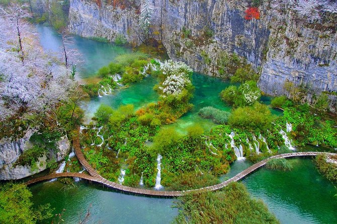 Take a trip from Split or Trogir to explore Plitvice, Croatia's first national park where you will spend a night. Marvel at breathtaking landscapes that include a series of colorful lakes and waterfalls. On the way back from Plitvice you will visit coastal city of Zadar, and admire its ancient and medieval monuments.