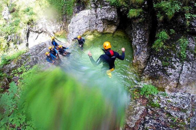 This canyoning adventure near Bled is a journey unlike any other. You will be challenged to do things that you may have never believed you would ever do, however, this does have a consequence of a positively mind blowing and an unforgettable day out!